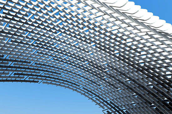 C Space Pavilion London Facade Design From Rieder